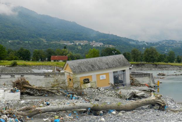 Centrale de Beaucens détruite
